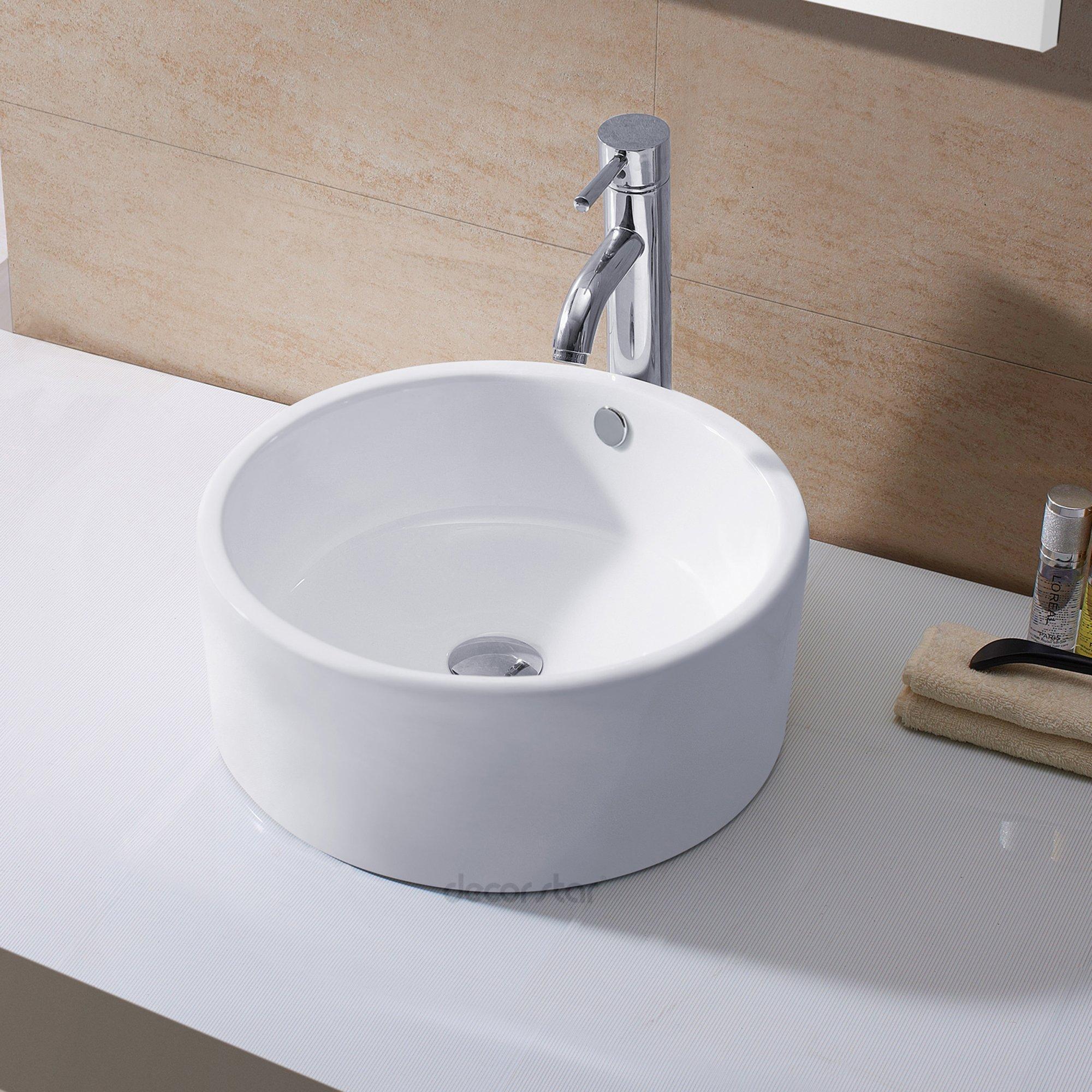 Decor Star CB-008 Bathroom Porcelain Ceramic Vessel Vanity Sink Art Basin