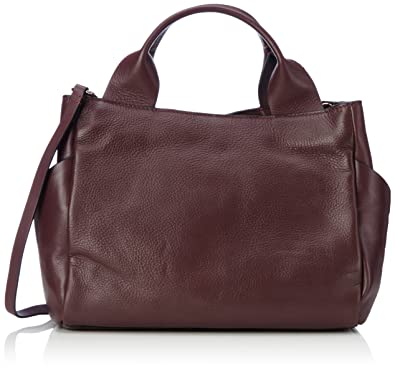 Clarks Talara Star, Henkeltasche femme, Violett (Burgundy Leather), 17x25x41 cm (L x H P)