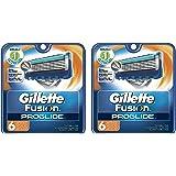 Gillette Fusion Gaxpwk ProGlide Manual Mens Razor Blade Refills, 6 Cartridge (Pack of 2)