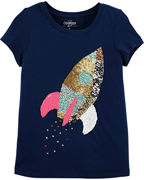 Amazon.com  OshKosh B Gosh Girls  Kids Sequin Flip Tee  Clothing 5c583cee08a0
