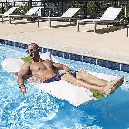 Jaxx Hooch Bean Bag Chair Pool Float, Lime Green