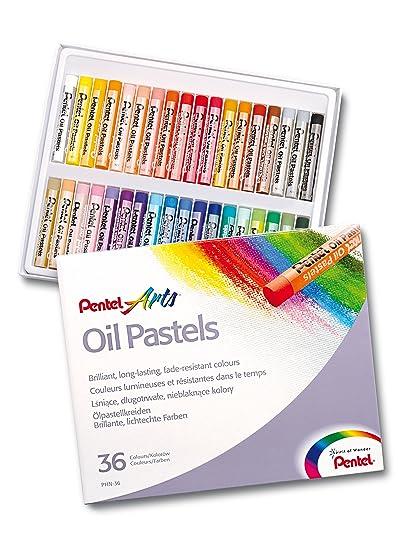 Pentel Oil Pastels - Juego de ceras pastel al aceite (36 unidades ...