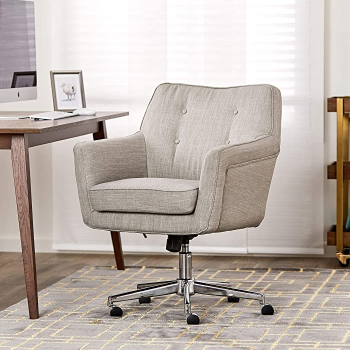 "Serta ""Ashland"" Home Office Chair, Lure Light Gray"