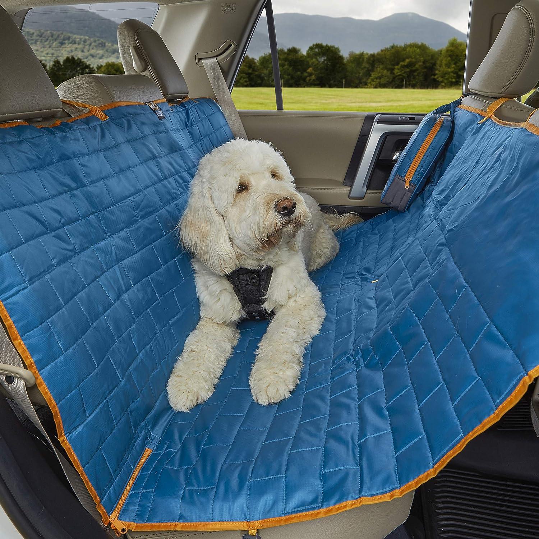 Kurgo K01401 Wasserdichte Reversible Auto Sitzbezüge Für Rückbank Von Autos Für Hunde Und Haustiere Stil Loft Blau Grau Haustier