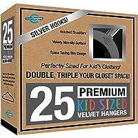 Closet Complete Kids Size, Premium Heavyweight, Velvet Hangers – Ultra-Thin, Space Saving