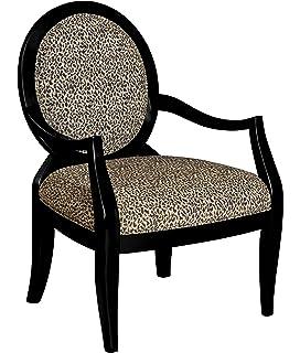 amazon com adf accent chair with zebra print in black finish