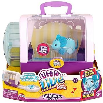 Little Live Pets Lil Mouse Cage Jungle Wonder Blue Amazon De Spielzeug