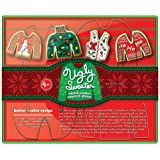 Fox Run 36039 Ugly Christmas Sweather Cookie Cutter Set, 4-Piece, Tin-Plated Steel