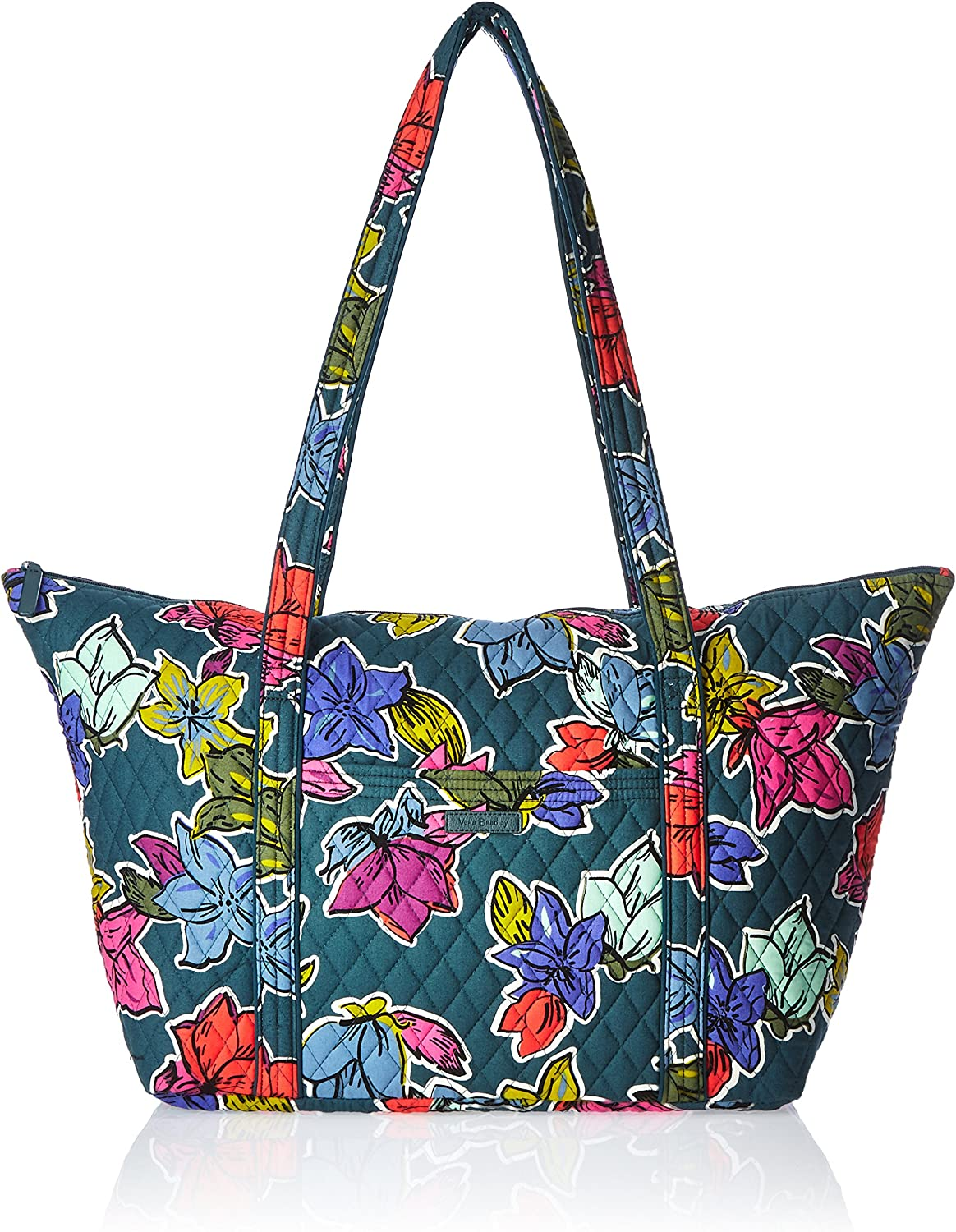 Tropical flowers tote bag carry on Floral travel bag Large weekender Tropical Flowers Collection Bright Colors Vacation Bag
