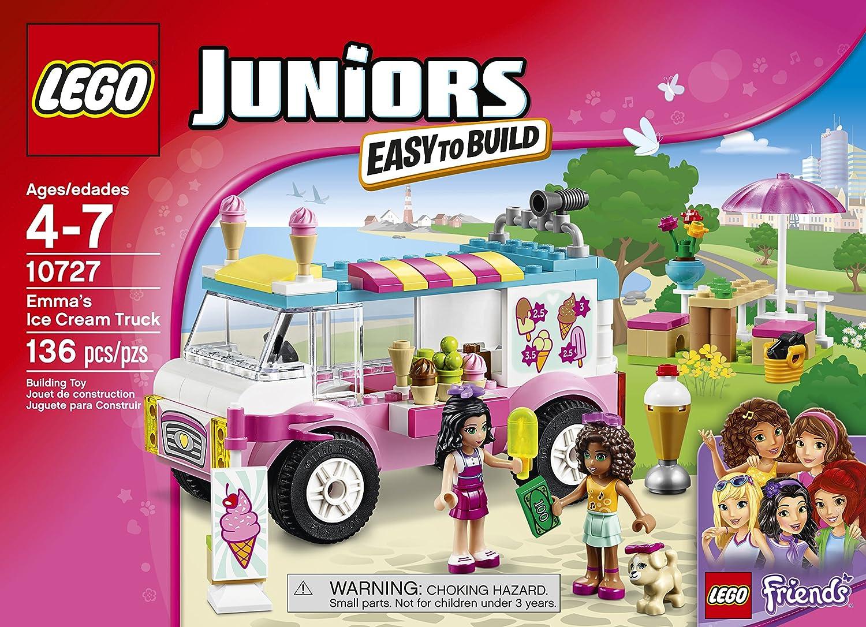 LEGO Juniors 10727 Emmas Ice Cream Truck Building Kit (136 Piece ...