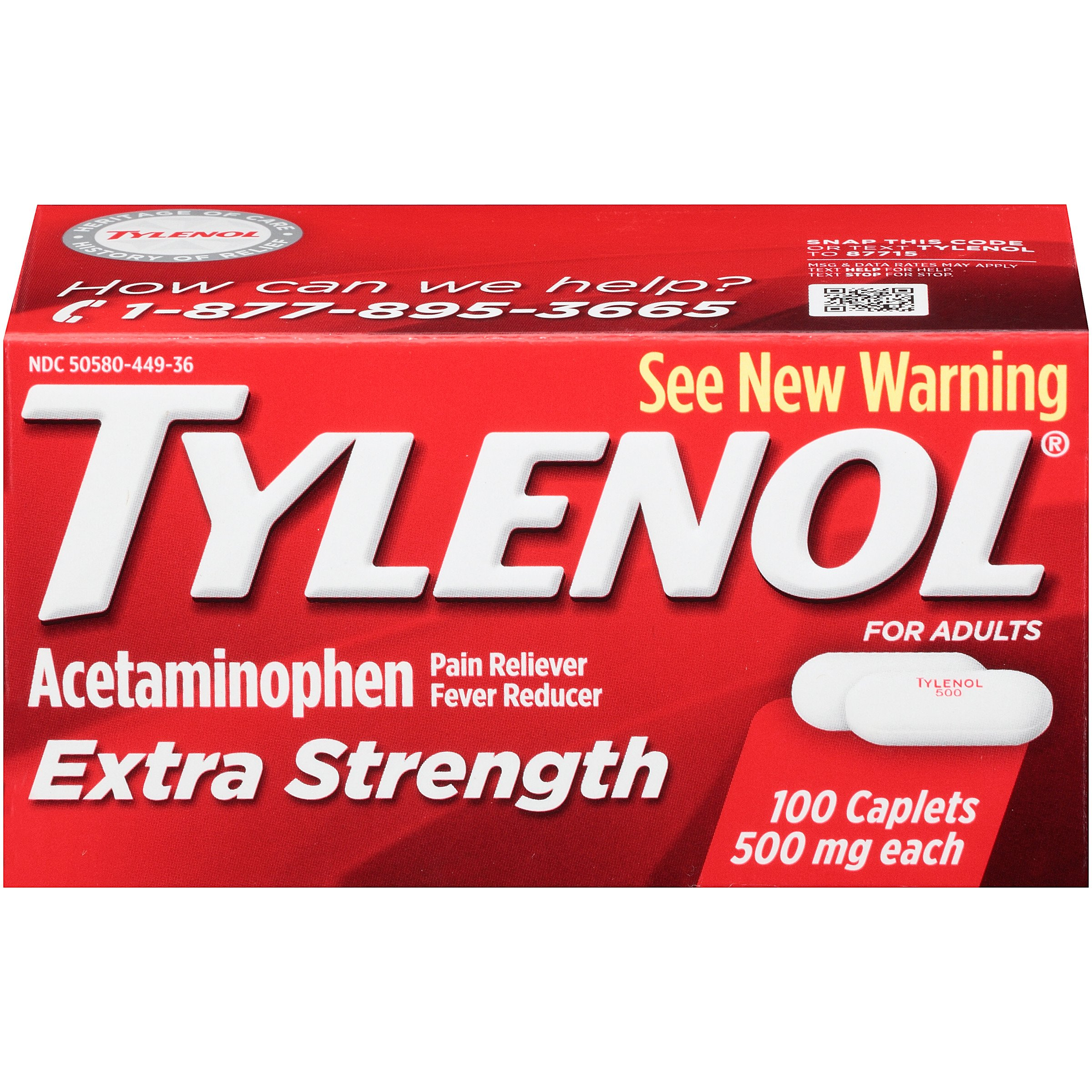 Tylenol Extra Strength Caplets, 100 Count by Tylenol