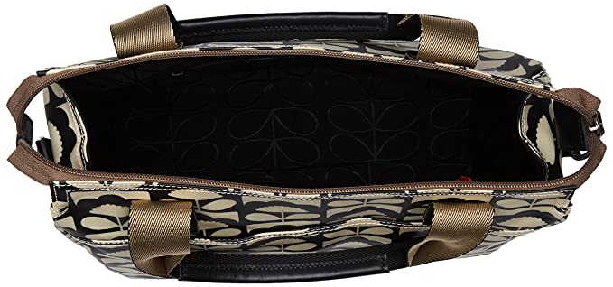 46025753d41 Orla Kiely Womens Zip Messenger Bag, Black  (Charcoal ), 32.5x30.5x8.2 cm  ...