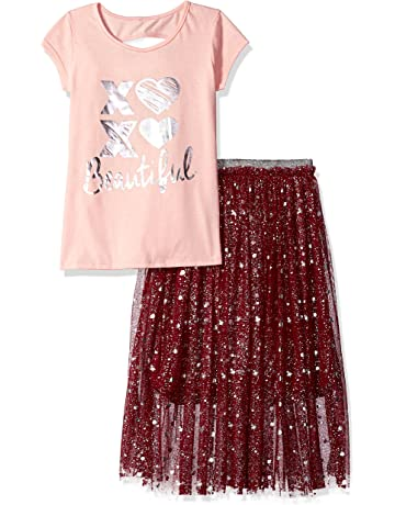 48a222c5e4 XOXO Girls' 3 Piece Top and Skirt Set with Headband