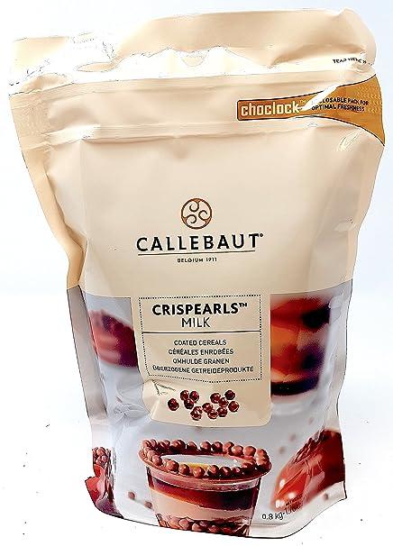 Callebaut Crispearls Leche - Perlas de Galleta Tostada (cereales) bañadas con Chocolate con Leche