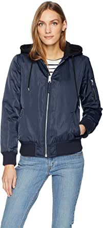 Levi's Women's Lfight Satin Bomber with Jersey Hood