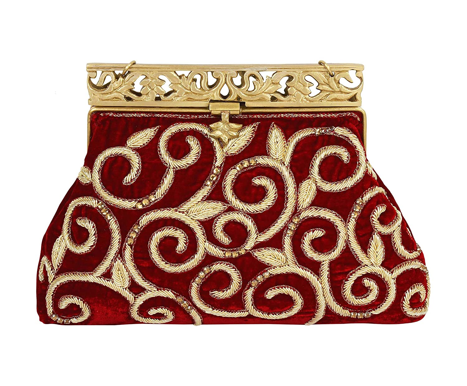 Purse Collection Red Handmade Clutch With Embroidery Work Purses For Women s   Handbags  Amazon.com c385574ae7