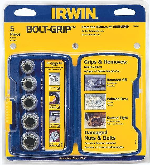 394002 IRWIN BOLT-GRIP Extractor Expansion Set 5 Piece