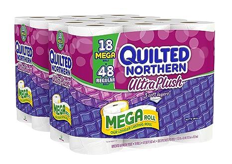 Amazon Quilted Northern Ultra Plush Bath Tissue 18 Mega Rolls