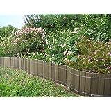 Petite clôture, bordure BOIS COMPOSITE 20 cm x 2,50 m. Couleur: vert, Marque: B Cottage.
