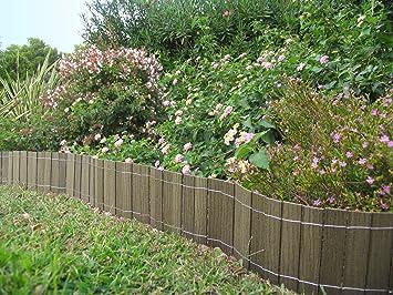 Petite clôture, bordure BOIS COMPOSITE 20 cm x 2,50 m. Couleur: vert ...
