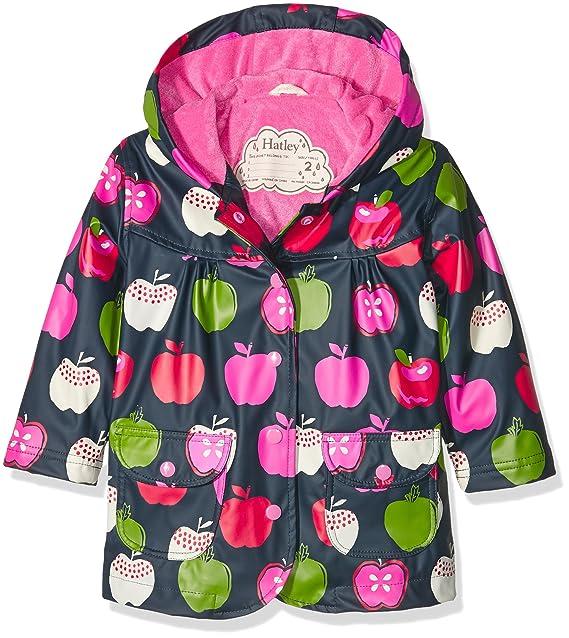 Hatley Raincoat-Nordic Apples, Abrigo Impermeable para Niñas, Azul (Blue) 6 años: Amazon.es: Ropa y accesorios