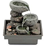 "Pajoma 18430 Zimmerbrunnen ""Floating Stones"", aus Polyresin, Höhe 25 cm"