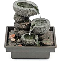 Pajoma 18430 Zimmerbrunnen Floating Stones, aus Polyresin, Höhe 25 cm