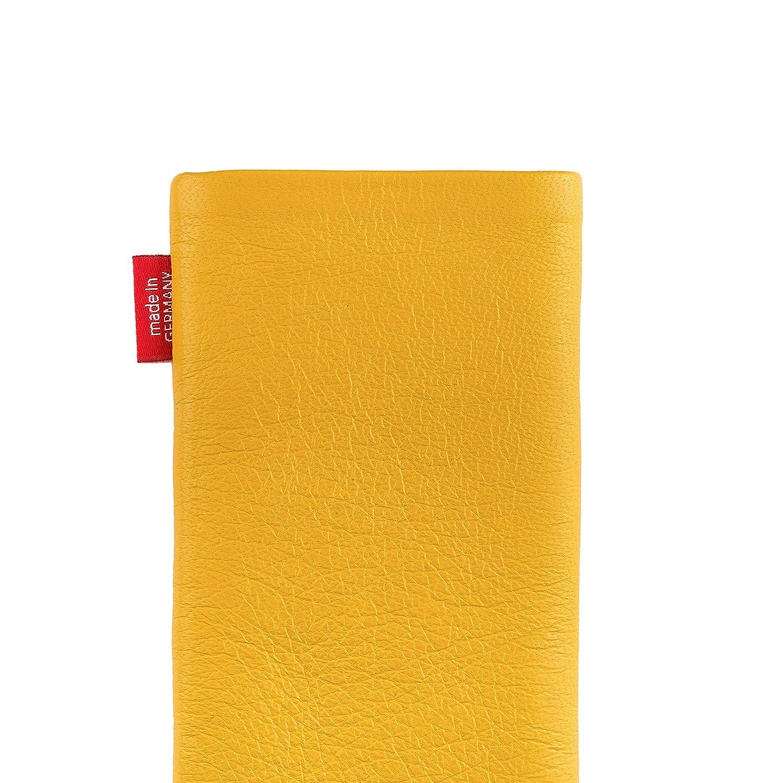 fitBAG Beat Blanc en Cuir Nappa int/érieur Pochette customis/ée adapt/ée Housse de Protection pour OnePlus 7 Pro Nettoyage de l/'/écran Fabriqu/é en Allemagne