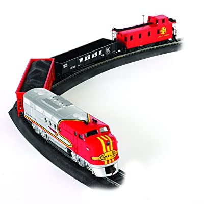 Bachmann Trains - Santa Fe Flyer Ready To Run Electric Train Set - HO Scale: Toys & Games