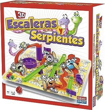 Falomir - Juego Escaleras Y Serpientes 3D 32-22001: Amazon.es: Juguetes y juegos