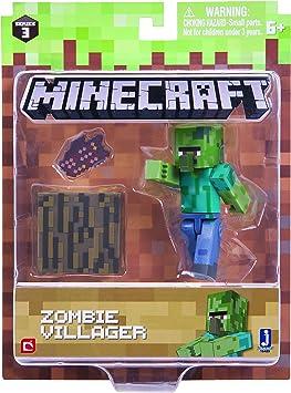Minecraft 16489 - Figura de acción de 7,62 cm – Zombie Villiager ...