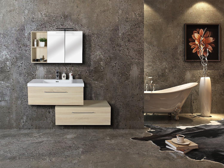 Jindoli Salle De Bain ~ jindoli meuble sous vasque salle de bain 2 tiroirs 90 cm meuble sdb
