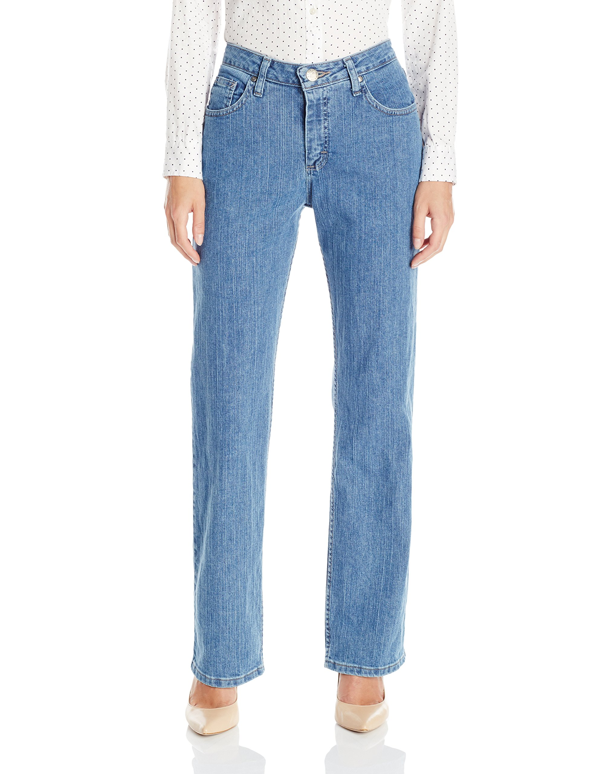 Riders by Lee Indigo Women's Relaxed Fit Straight Leg Jean,Light,8