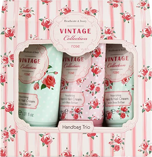 Heathcote & Ivory Vintage Collection Rose Mini Hand Cream Set 30 ml (Pack of 3)