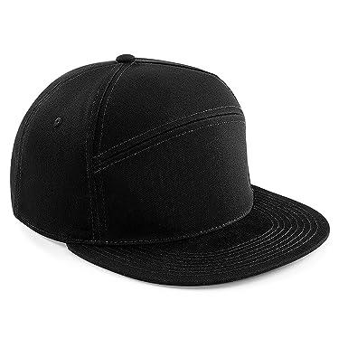 92dcb74fd0e Beechfield Pitcher Snapback Cap (Black)  Amazon.co.uk  Clothing
