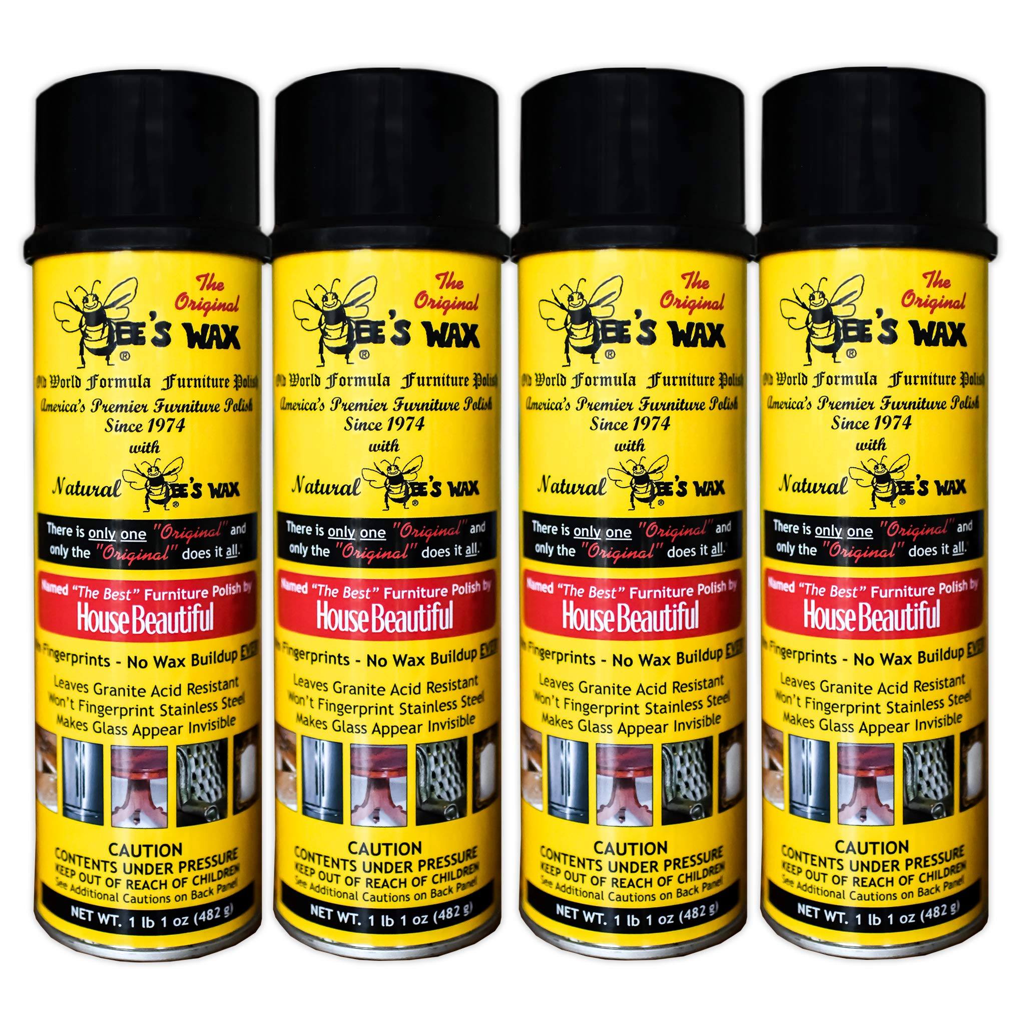 The Original BEE'S WAX Old World Formula Furniture Polish - 4 Pack by World Class Promotions