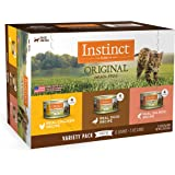 Instinct Original Grain Free Recipe Variety Pack Natural Wet Canned Cat Food by Nature's Variety, 3 oz. Cans (Pack of 12…