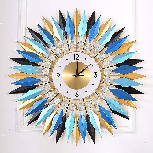 KINBEDY Large Sunburst Big Fancy Decorative Clock