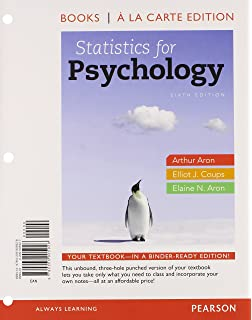 Statistics for psychology 6th edition arthur aron phd elliot statistics for psychology books a la carte edition 6th edition fandeluxe Image collections