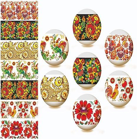 20 Heat shrink sleeve wraps for Easter Egg decorating over hard boiled Eggs.