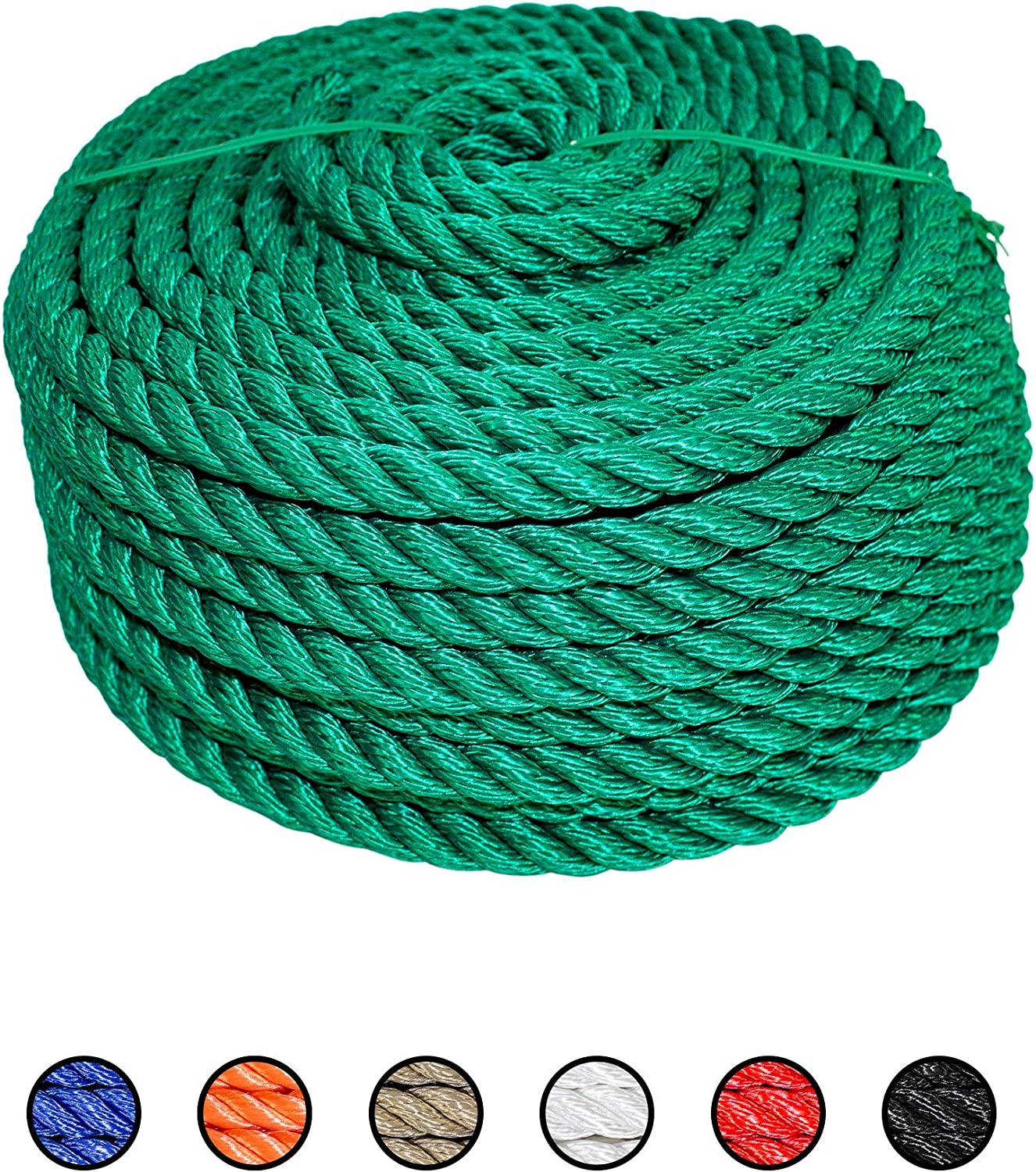 Construction Site Uses SGT KNOTS Twisted MFP Lightweight and Affordable Multifiliment Rope for Decoration Projects 1//4 x 600ft, Tan