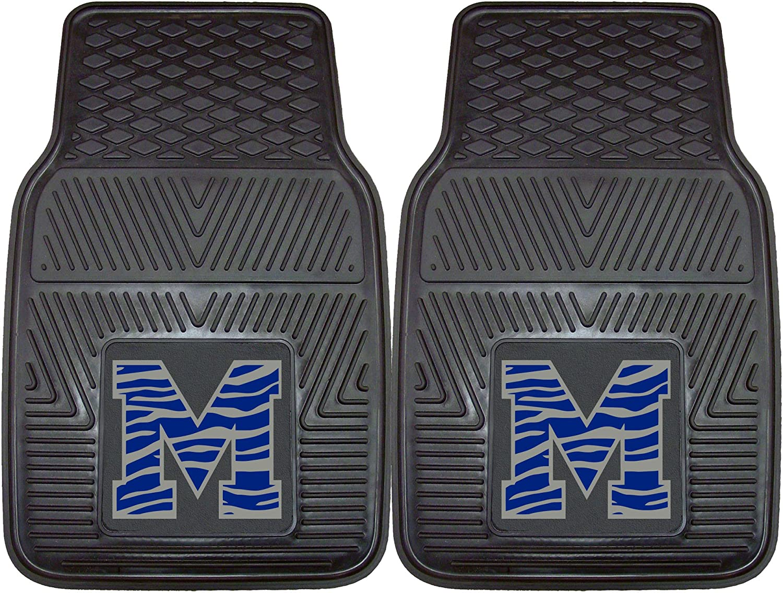 Pack of 2 Fanmats 12775 University of Memphis Tigers Rear Second Row Vinyl Heavy Duty Utility Mat,