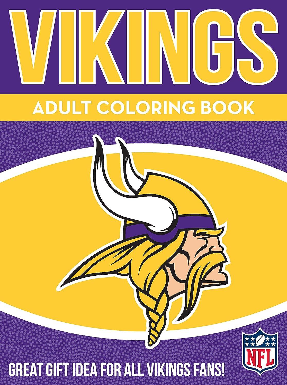In The Sports Zone Zona Sportiva Nfl Minnesota Vikings Adulto Libro, Viola, Bianco, 96Pagine Da Colorare