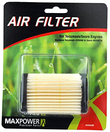 Maxpower 334339 Air Filter For Tecumseh/Sears Craftsman Replaces 35066 and  63087A