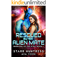 Rescued by her Alien Mate: A science fiction romance (Warriors of the D'tali Book 1) book cover