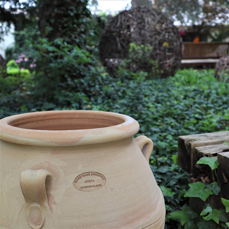 Kreta-Keramik - Anfora mediterránea, terracota resistente a las heladas, hecho a mano, decoración para jardín y exterior, 35-100 cm: Amazon.es: Jardín