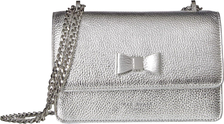 43537425d09da Ted Baker Drayaa Bow Detail Metallic Leather Cross Body Bag - O S ...