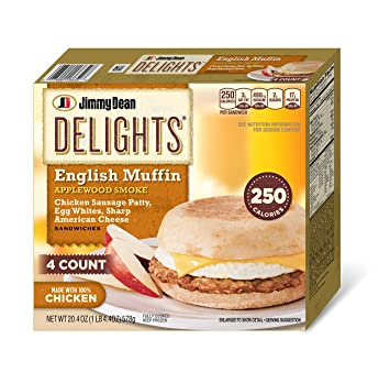 Jimmy Dean, Delights English Muffin Sandwiches, Applewood Smoke, 4 ct (frozen)
