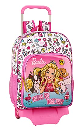 Barbie Celebration Oficial Mochila Escolar Grande Con Carro: Amazon.es: Ropa y accesorios