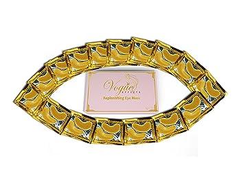 Amazon.com: Máscara de ojo de oro de 24 quilates, con ...
